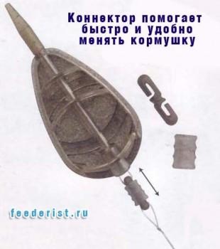 Коннектор для смены кормушки