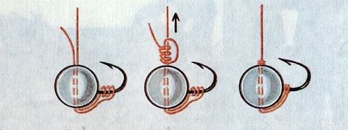 как привязать мормышку без ушка