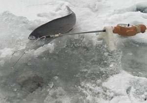 Изготовление и ловля на вертолет зимой