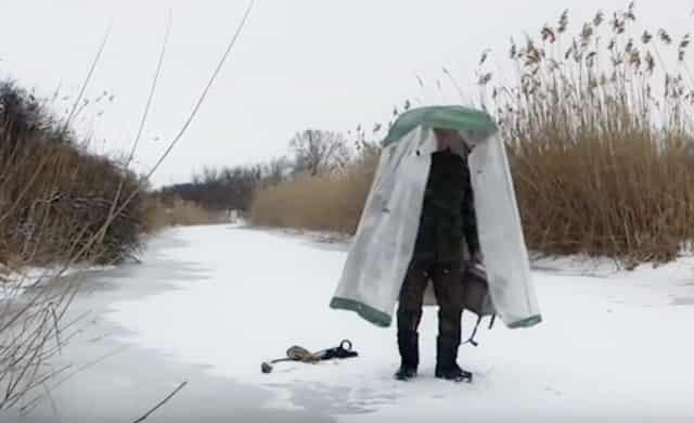 Зимняя палатка для рыбалки своими руками