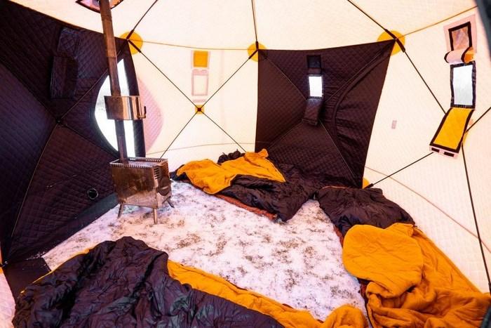 Внутреннее оснащение зимней палатки