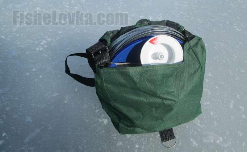 Жерлицы в удобной сумке для транспортировки.