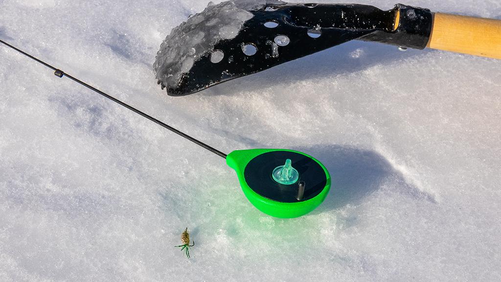зимняя снасть для безнасадочной ловли
