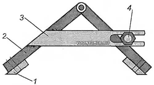 Рис. 8. Конструкция универсального приспособления для заточки ножей ледобура