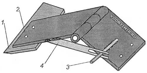 Рис. 7. Общий вид универсального приспособления для заточки ножей под любым углом