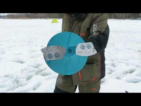 Барнаульский ледоруб Тонар 130мм: стандартные ножи против закруглённых ножей от ледобура Неро