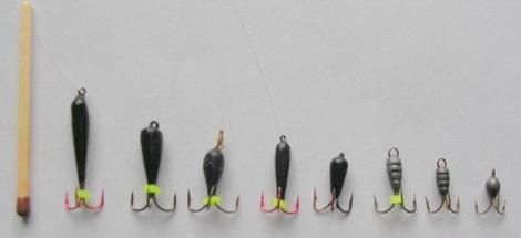 Безмотылки чертики для зимней рыбалки