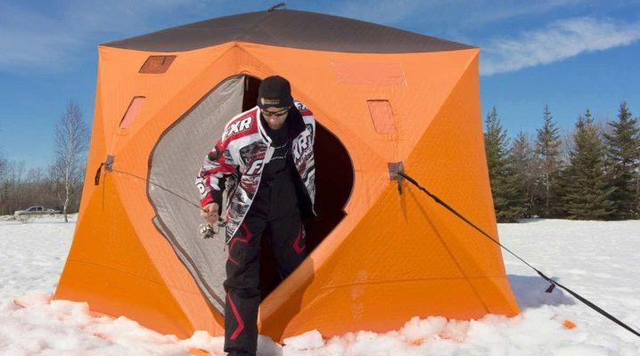 Как сложить рыбацкую палатку?