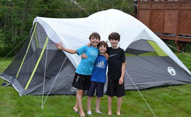 как сложить детскую палатку восьмеркой