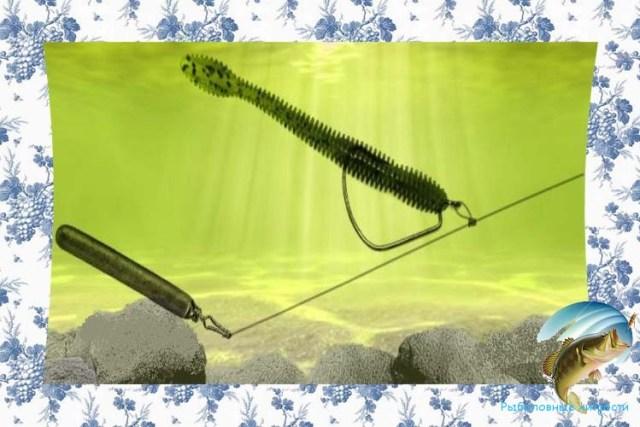 ловля окуня летом на отводной поводок