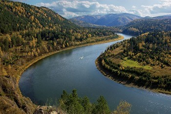 Река Енисей фото