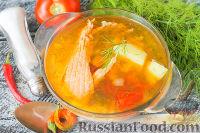 Фото к рецепту: Уха из хребтов красной рыбы