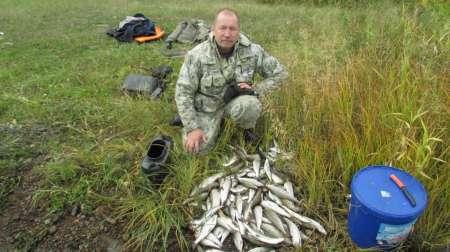 Вот такая рыбалка на Ангаре!