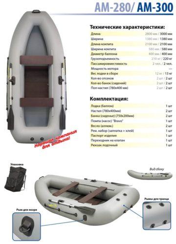 адмирал 280 характеристики лодки