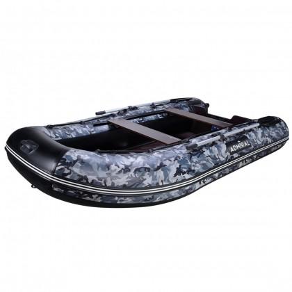 Лодка надувная ПВХ АДМИРАЛ 335 (КМФ омон серый)