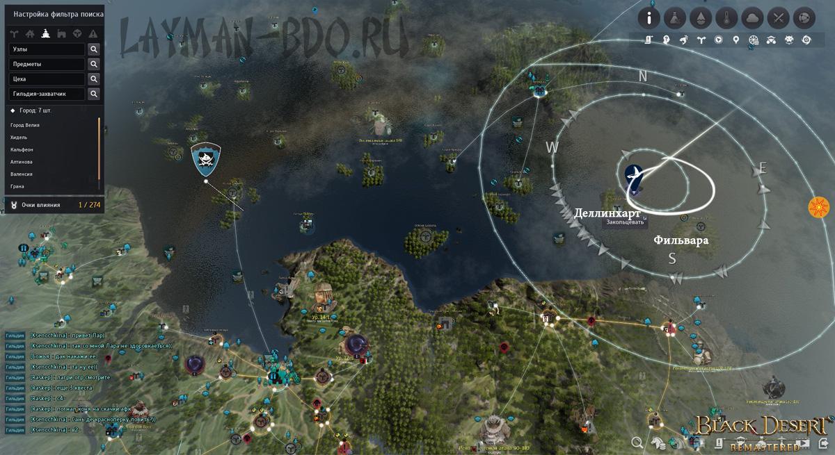 Барбус на карте