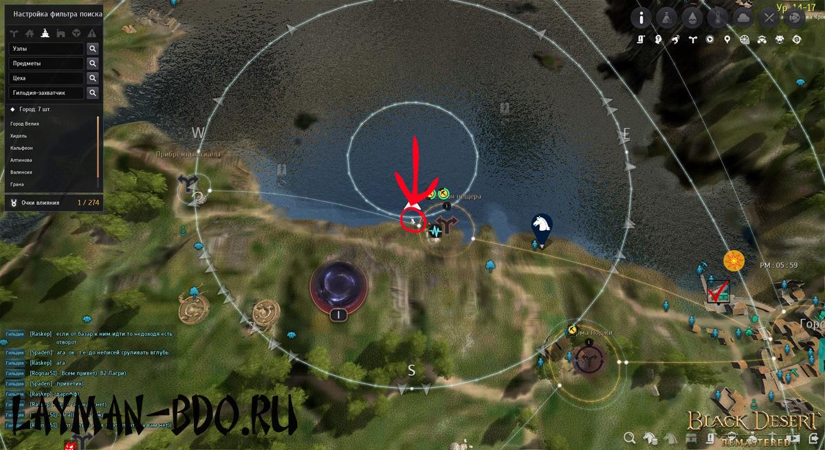 Мелководный бычок, лучшая зона поимки, карта